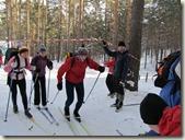 Старт на лыжной дистанции